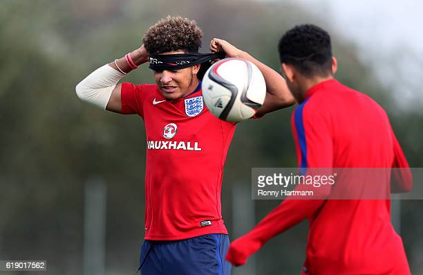 Jadon Sancho of England during the U17 England Training Session at Football Centre FRF on October 29 2016 in Buftea Romania