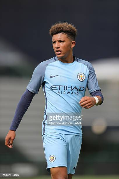 Jason Sancho of Manchester City U18 during the U18 Premier League match between Manchester City and West Bromwich Albion at Etihad Campus on August...