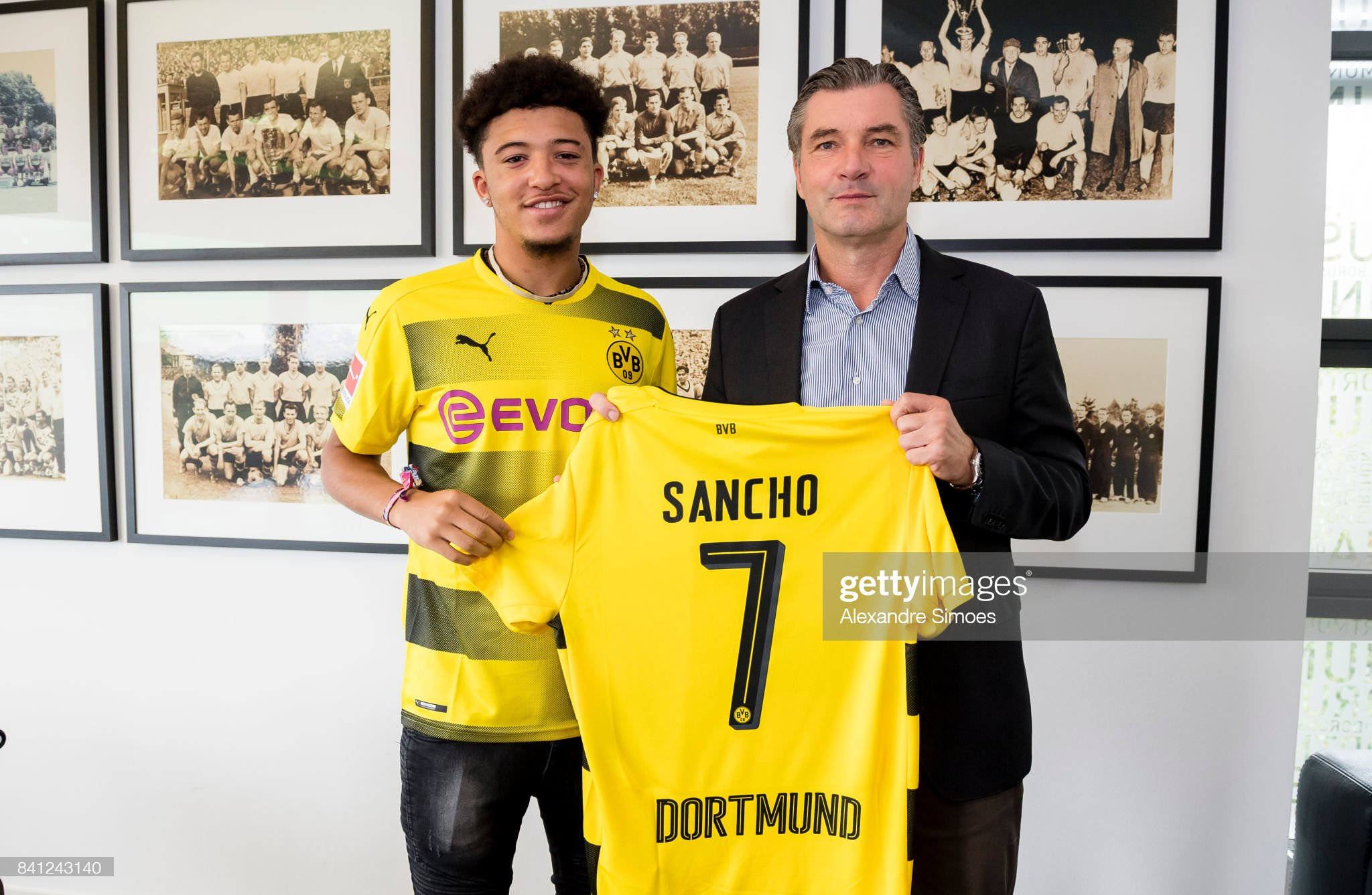 Borussia Dortmund Unveils New Signing Jadon Sancho : News Photo