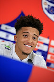 burtonupontrent england jadon sancho smiles during