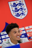 burtonupontrent england jadon sancho speaks during