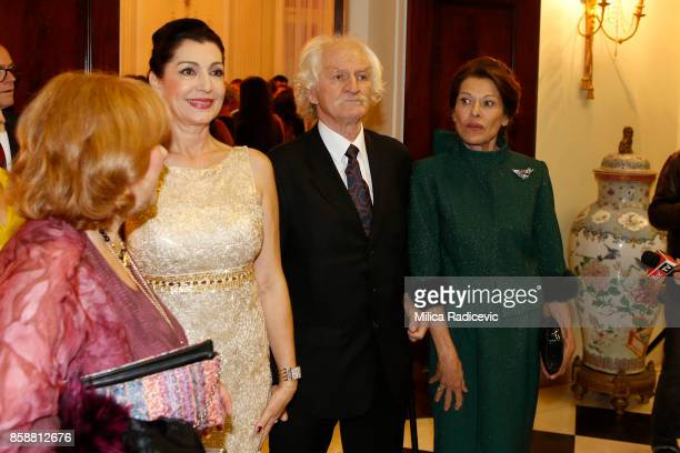 Jadranka Jankovic Milan Cile Marinkovic Beba Marinkovic during the wedding of Prince Philip Of Serbia And Danica Marinkovic at The White Palace on...