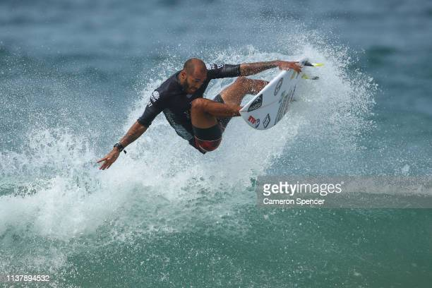 Jadson Andre of Brazil competes in the men's semifinal of the Sydney Surf Pro at Manly Beach on March 24 2019 in Sydney Australia