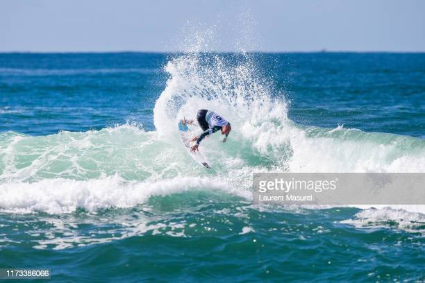 Jadson Andre of Brazil will surf in Round 2 of the 2019 Quiksilver Pro France after placing third in Heat 8 of Round 1 at Le Culs Nus on October 3...