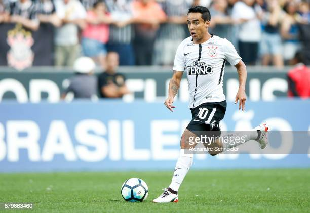 Jadson of Corinthians in action during the match against Atletico MG for the Brasileirao Series A 2017 at Arena Corinthians Stadium on November 26...
