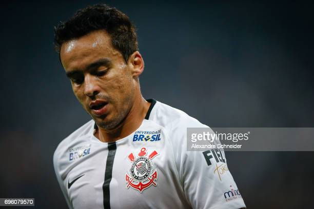 Jadson of Corinthians in action during the match between Corinthians and Cruzeiro for the Brasileirao Series A 2017 at Arena Corinthians Stadium on...