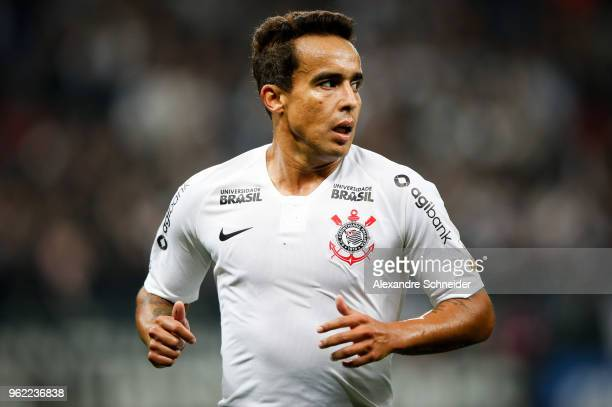Jadson of Corinthians of Brazil reacts during the match against Milionarios for the Copa CONMEBOL Libertadores 2018 at Arena Corinthians Stadium on...