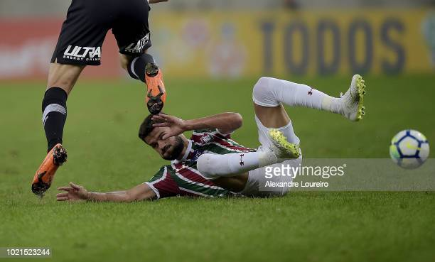 Jadson of Fluminense in actionduring the match between Fluminense and Corinthians as part of Brasileirao Series A 2018 at Maracana Stadium on August...