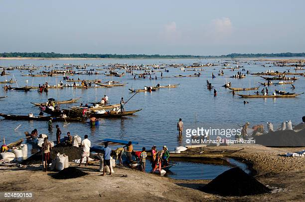 jadukata river - bangladesh village stock photos and pictures