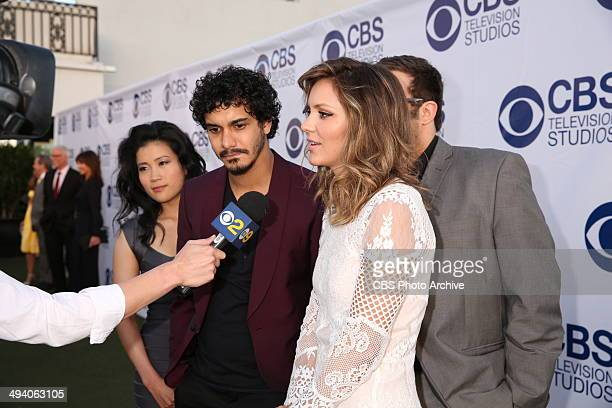 Jadyn Wong Elyes Gabel and Katharine McPhee during the CBS Television Studios Summer Soiree held in Los Angeles Ca on Monday May 19th