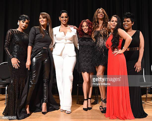 Jae Christian Gwen Moss Tahlia Brown A'Lana Banks Chrishena Stanley Sarah Lowe and Okevia Wilson attends WE tv Selling It In the ATL Premiere at...