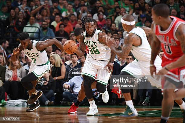 Jae Crowder of the Boston Celtics drives to the basket against the Chicago Bulls on November 2 2016 at the TD Garden in Boston Massachusetts NOTE TO...