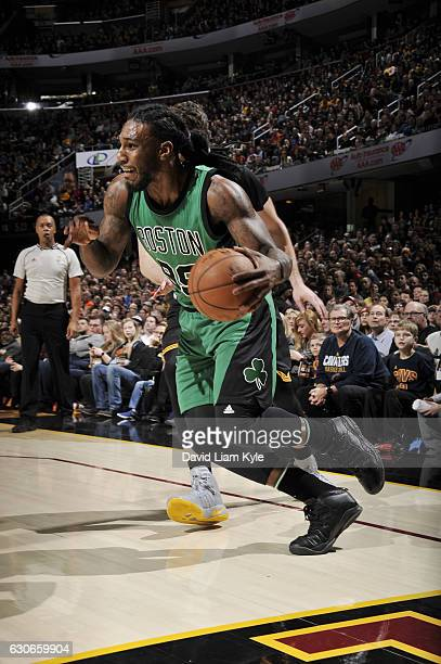 Jae Crowder of the Boston Celtics drives to the basket during a game against the Cleveland Cavaliers n December 29 2016 at Quicken Loans Arena in...