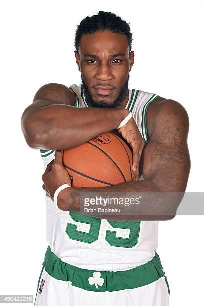 Jae Crowder of the Boston Celtics poses for media day on September 25 2015 at the Boston Celtics Training Center in Waltham Massachusetts NOTE TO...