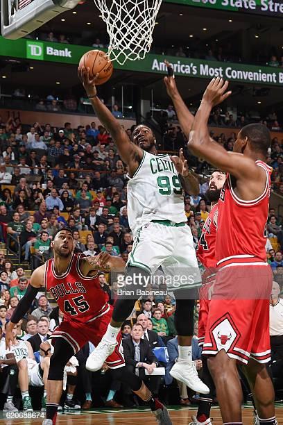 Jae Crowder of the Boston Celtics shoots the ball against the Chicago Bulls on November 2 2016 at the TD Garden in Boston Massachusetts NOTE TO USER...