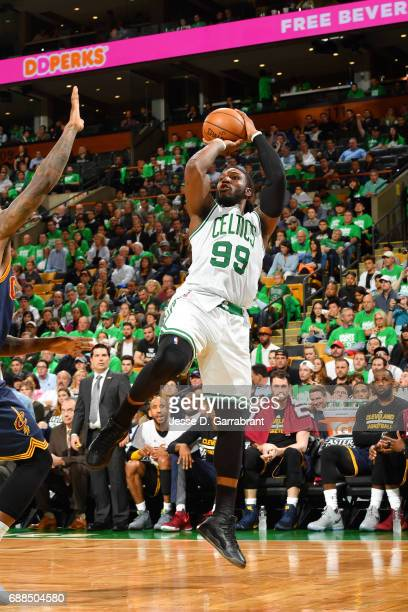 Jae Crowder of the Boston Celtics shoots the ball during the game against the Cleveland Cavaliers during Game Five of the Eastern Conference Finals...