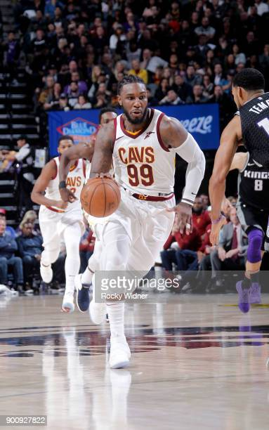 Jae Crowder of the Cleveland Cavaliers drives against the Sacramento Kings on December 27 2017 at Golden 1 Center in Sacramento California NOTE TO...
