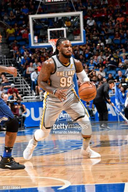 Jae Crowder of the Cleveland Cavaliers handles the ball against the Orlando Magic on February 6 2018 at Amway Center in Orlando Florida NOTE TO USER...