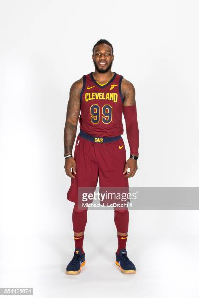 Jae Crowder of the Cleveland Cavaliers poses for a portrait during the 201718 NBA Media Day on September 25 2017 at Quicken Loans Arena in Cleveland...