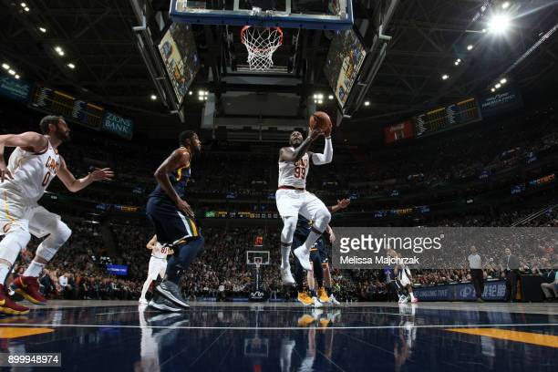 Jae Crowder of the Cleveland Cavaliers shoots the ball against the Utah Jazz on December 30 2017 at Vivint Smart Home Arena in Salt Lake City Utah...
