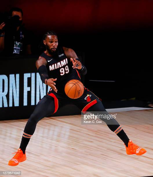 Jae Crowder of the Miami Heat handles the ball during the fourth quarter against the Boston Celtics in Game Three of the Eastern Conference Finals...