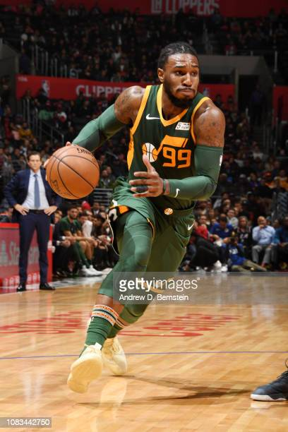 Jae Crowder of the Utah Jazz handles the ball against the LA Clippers on January 16 2019 at STAPLES Center in Los Angeles California NOTE TO USER...