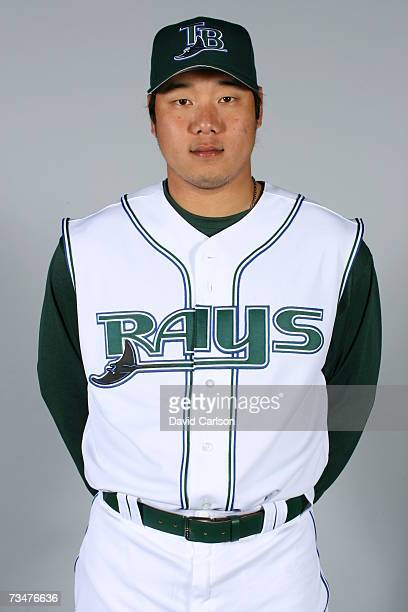 Jae Kuk Ryu of the Tampa Bay Devil Rays poses during photo day at Progress Energy Park on February 27 2007 in St Petersburg Florida