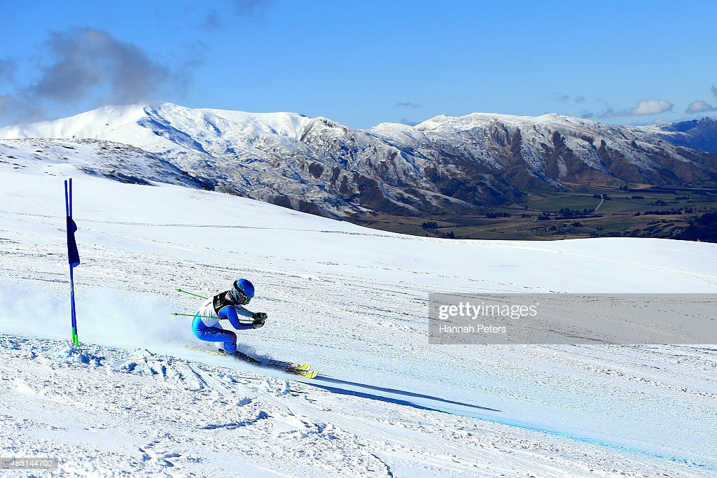 Jae Rim Yang of Korea competes in the Women Giant Slalom Visually Impaired B2 in the IPC Alpine Adaptive Giant Slalom Southern Hemisphere Cup during the Winter Games NZ at Coronet Peak on August 25, 2015 in Queenstown, New Zealand.