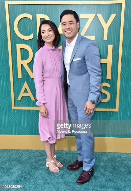 """Jae Suh Park and Randall Park attend the premiere of Warner Bros. Pictures' """"Crazy Rich Asiaans"""" at TCL Chinese Theatre IMAX on August 7, 2018 in..."""