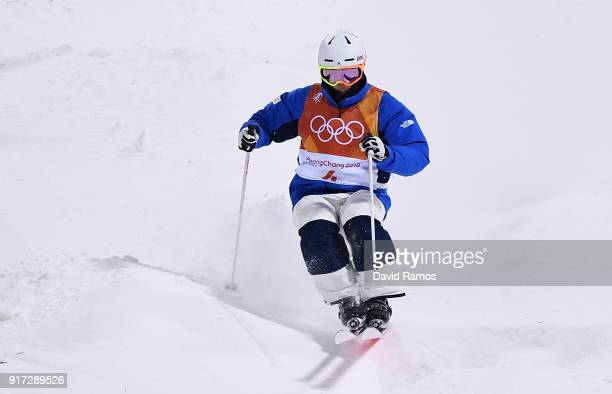 Jae Woo Choi of Korea competes in the Freestyle Skiing Men's Moguls Final on day three of the PyeongChang 2018 Winter Olympic Games at Phoenix Snow...