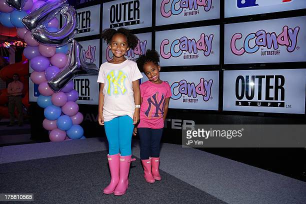Jaeden Arie Sabathia and Cyia Sabathia attend the CCandy Children's Clothing Line Launch at MLB Fan Cave on August 8 2013 in New York City