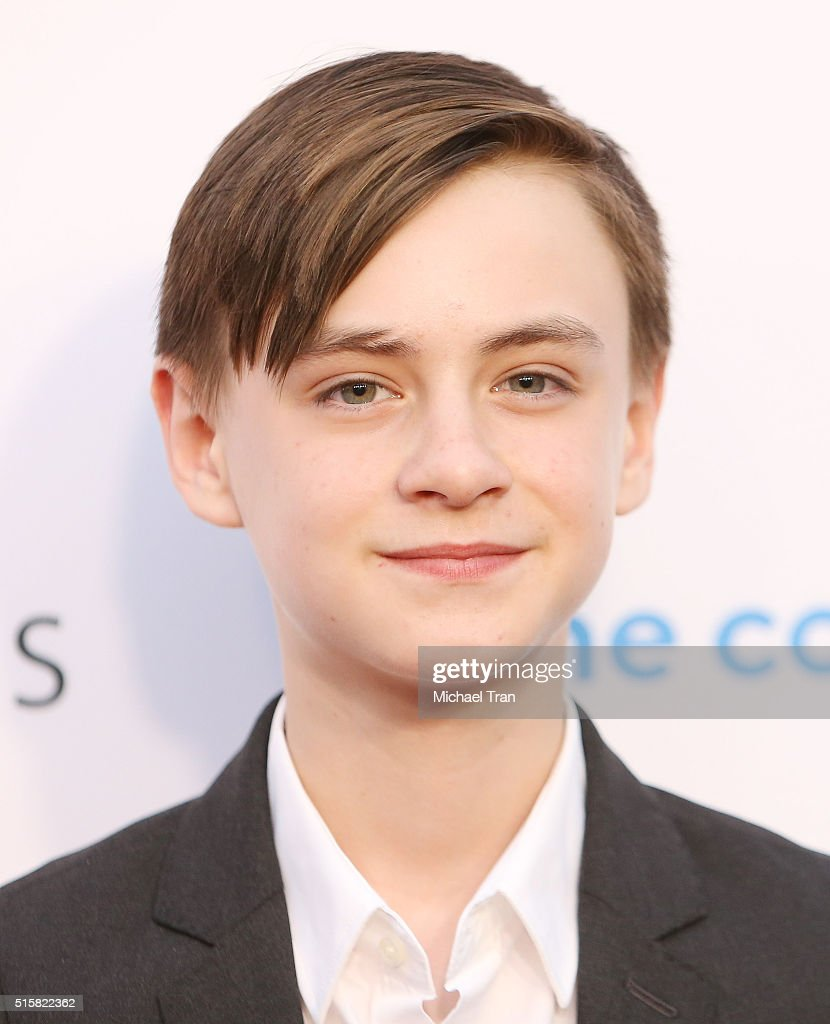 Jaeden Lieberher arrives at the Los Angeles premiere of 'The Confirmation' held at NeueHouse Hollywood on March 15, 2016 in Los Angeles, California.
