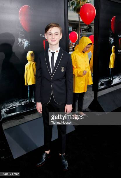 Jaeden Lieberher attends the premiere of 'It' at TCL Chinese Theatre on September 5 2017 in Hollywood California