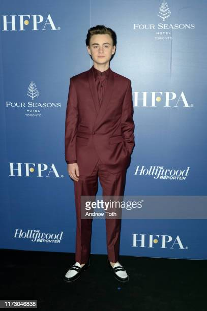 Jaeden Martell attends The Hollywood Foreign Press Association and The Hollywood Reporter party at the 2019 Toronto International Film Festival at...