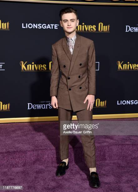 Jaeden Martell attends the Premiere of Lionsgate's Knives Out at Regency Village Theatre on November 14 2019 in Westwood California