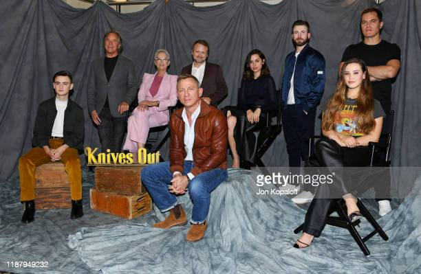 Jaeden Martell, Don Johnson, Jamie Lee Curtis, Rian Johnson, Daniel Craig, Chris Evans, Ana de Armas, Michael Shannon and Katherine Langford attend...