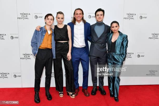 Jaeden Martell Kristine Froseth Alex Neustaedter Keean Johnson and Camila Perez attend the Low Tide screening during the 2019 Tribeca Film Festival...