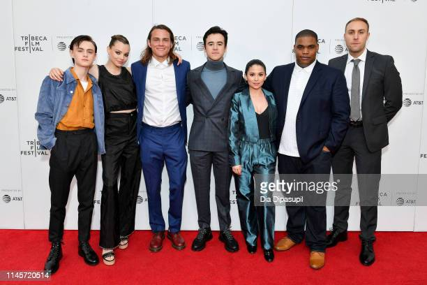 Jaeden Martell Kristine Froseth Alex Neustaedter Keean Johnson Camila Perez Michael Baldwin and Kevin McMullin attend the Low Tide screening during...