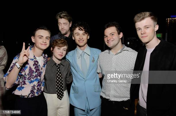 Jaeden Martell Sophia Lillis Andrés Muschietti Wyatt Oleff Jake Sim and Nicholas Hamilton attend the premiere of Netflix's I Am Not Okay With This at...