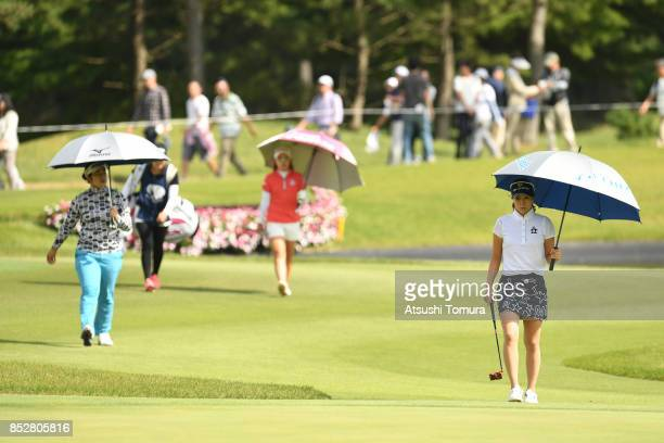 JaeEun Chung of South Korea walks on the 15th hole during the final round of the Miyagi TV Cup Dunlop Ladies Open 2017 at the Rifu Golf Club on...