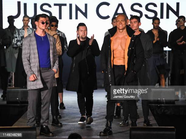 Jaeger O'Meara Justin Cassin and Michael Klim walks the runway during the Justin Cassin show at MercedesBenz Fashion Week Resort 20 Collections at...