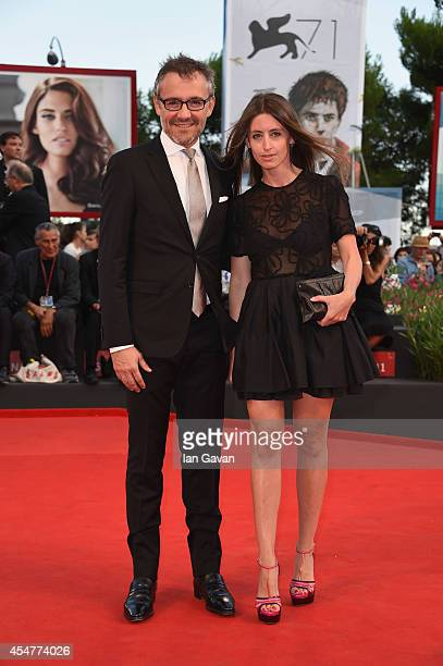 JaegerLeCoultre Communication Director Laurent Vinay and Annabelle Tillette attend the 71st Venice International Film Festival Closing Ceremony at...