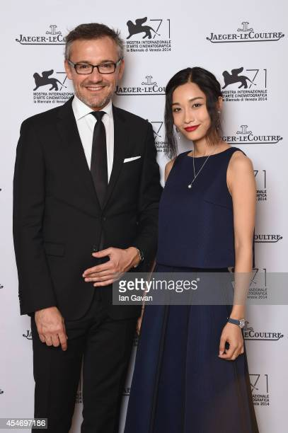 JaegerLeCoultre Communication Director Laurent Vinay poses for a portrait with Tian Yuan wearing a JaegerLeCoultre watch of 'Huang jin shi dai' for...