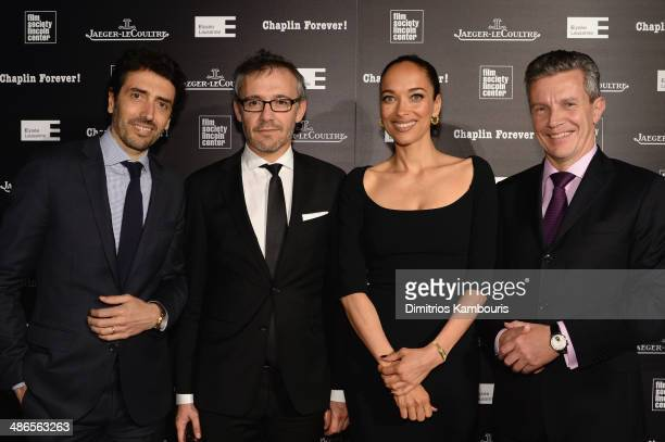 JaegerLeCoultre North America President Philippe Bonay JaegerLeCoultre Communication Director Laurent Vinay director/actress Carmen Chaplin and...