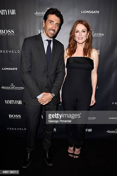JaegerLeCoultre President Philippe Bonay and actress Julianne Moore attend the Vanity Fair toast of 'Freeheld' at TIFF 2015 presented by Hugo Boss...