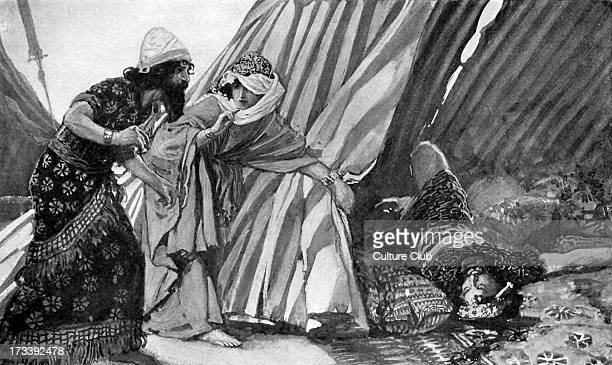 Jael showing Barak Sisera lying dead by J James Tissot Showing scene from Book of Judges 422 Jael murdered Sisera captain of the Canaanite army with...
