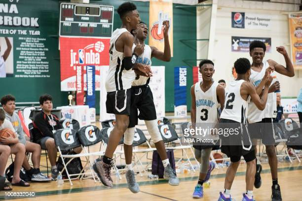 Jaelin Green and Jaelin Green of Seattle Rotary celebrate during the game against Alaska Tru Game during the Jr NBA World Championship Northwest...