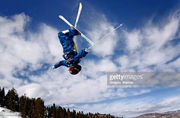 Jaelin Kauf of the United States takes a training run for the Woman's Moguls during the 2021 Intermountain Healthcare Freestyle International Ski...