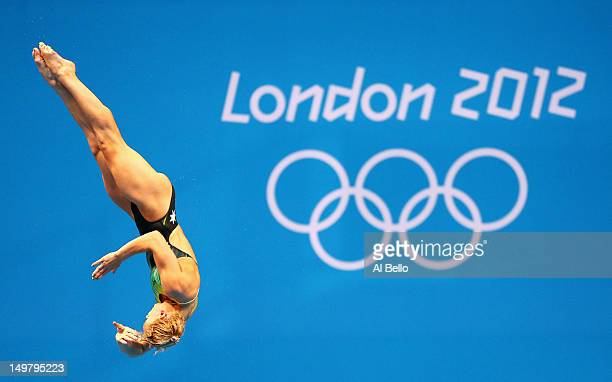 Jaelle Patrick of Australia competes in the Women's 3m Springboard Diving Semifinal on Day 8 of the London 2012 Olympic Games at the Aquatics Centre...