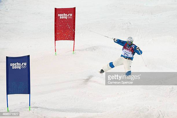 JaeWoo Choi of South Korea competes in the Men's Moguls Finals on day three of the Sochi 2014 Winter Olympics at Rosa Khutor Extreme Park on February...